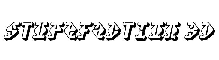 Stupefaction 3D  Скачать бесплатные шрифты