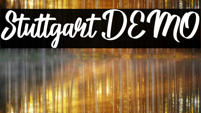 Stuttgart DEMO Schriftart examples
