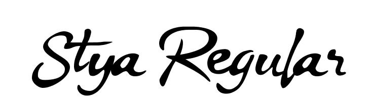 Stya Regular  フリーフォントのダウンロード
