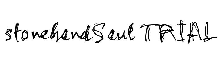 stonehandSaul_TRIAL Schriftart