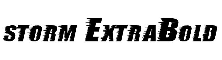 storm ExtraBold  baixar fontes gratis