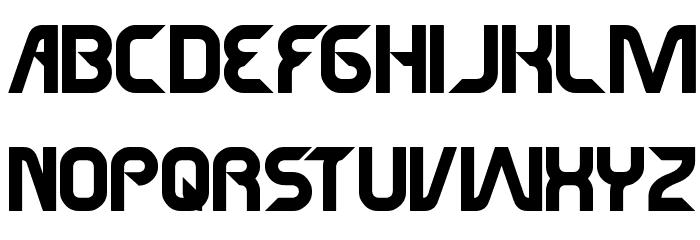 SUPERHERO Font UPPERCASE