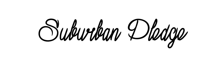 Suburban Pledge  Descarca Fonturi Gratis