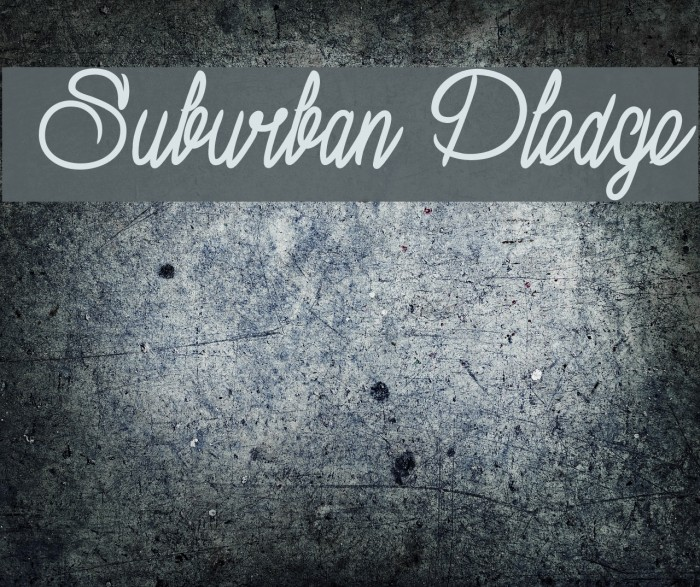 Suburban Pledge Polices examples