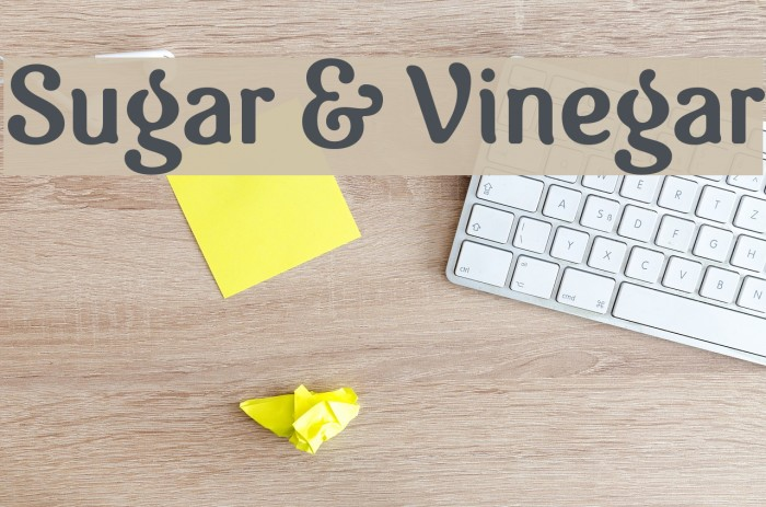 Sugar & Vinegar Polices examples