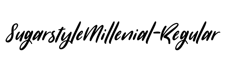 SugarstyleMillenial-Regular  Free Fonts Download