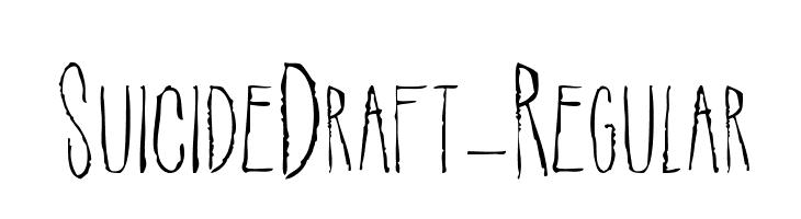 SuicideDraft-Regular  Free Fonts Download