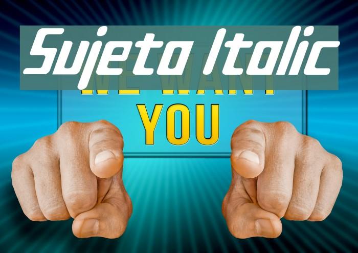 Sujeta Italic Font examples