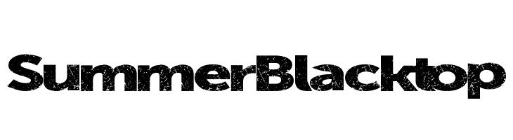 SummerBlacktop  Free Fonts Download