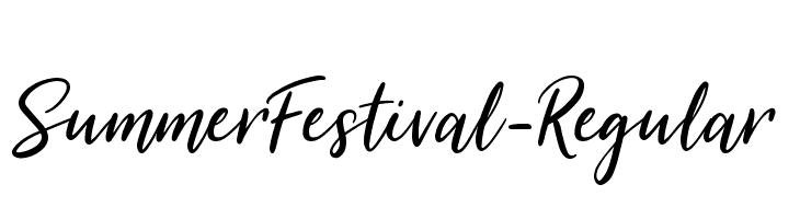 SummerFestival-Regular  Free Fonts Download