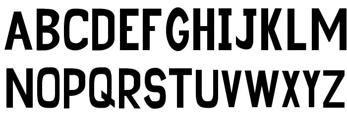 Sunflower Highway Sign Caps Font Litere mari