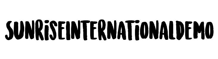 SunriseInternationalDemo  नि: शुल्क फ़ॉन्ट्स डाउनलोड