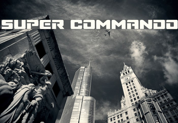 Super Commando Шрифта examples