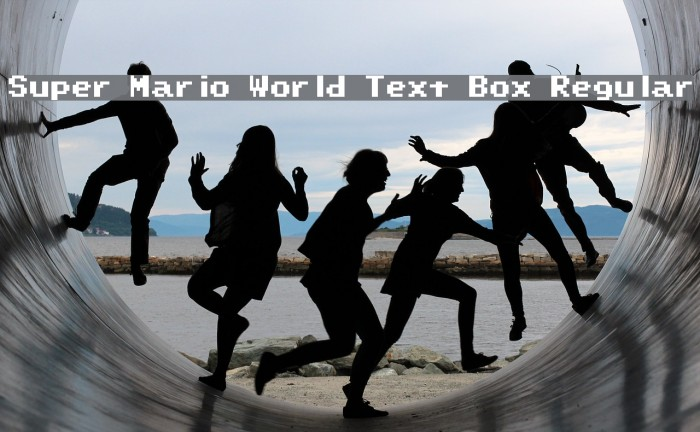 Super Mario World Text Box Regular Font examples