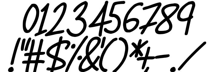 Super Sunrise Italic Schriftart Anderer Schreiben