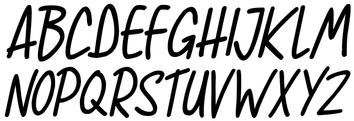 Super Sunrise Italic Schriftart Groß