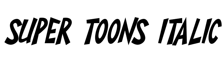 Super Toons Italic Polices