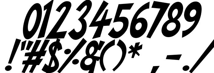 Super Toons Italic Шрифта ДРУГИЕ символов