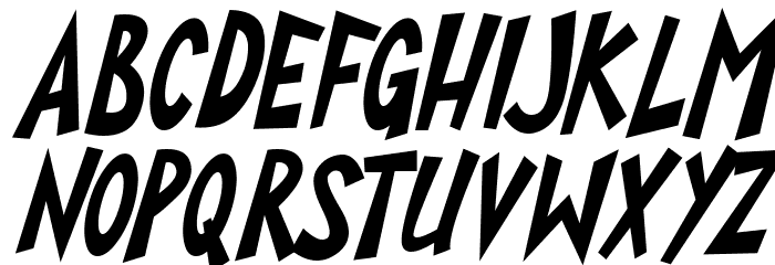 Super Toons Italic Шрифта строчной