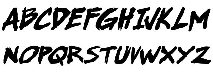 Super Webcomic Bros. Bold Italic 字体 大写