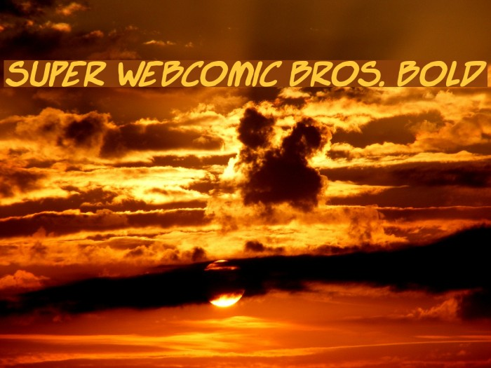 Super Webcomic Bros. Bold 字体 examples