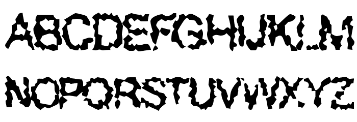 Superbeast Font UPPERCASE