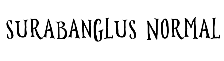 Surabanglus Normal  フリーフォントのダウンロード