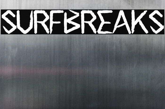 Surfbreaks フォント examples