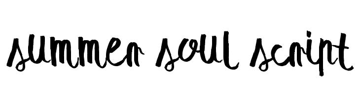 summer soul script  baixar fontes gratis