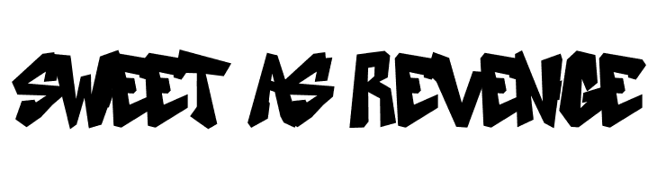 SWEET-AS-REVENGE  Скачать бесплатные шрифты