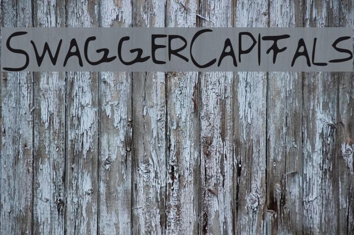 SwaggerCapitals Font examples