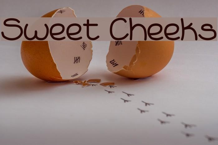Sweet Cheeks Fonte examples