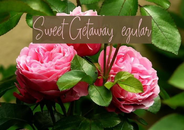 Sweet Getaway DEMO Regular फ़ॉन्ट examples