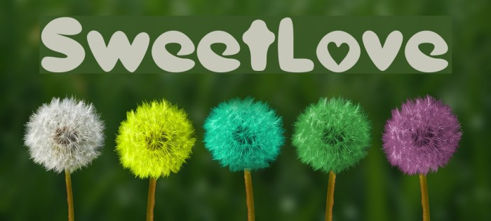 SweetLove Font examples