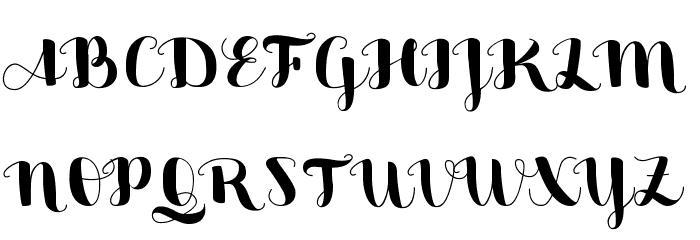 Sweetheart Script Medium Font UPPERCASE