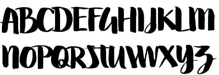 Swettiest Font UPPERCASE