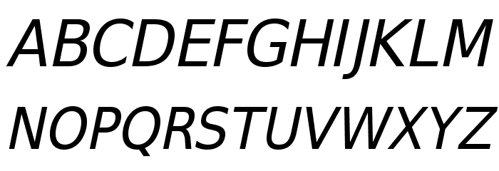 SwitzeraADF-Italic Font UPPERCASE