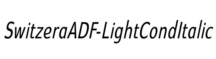 SwitzeraADF-LightCondItalic  Скачать бесплатные шрифты