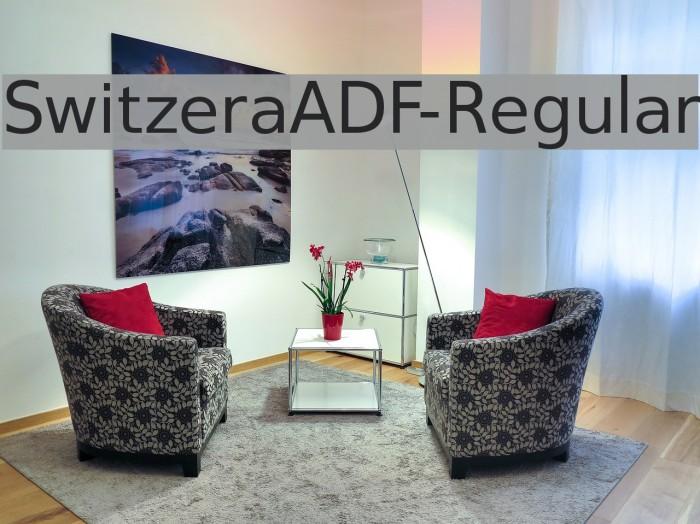 SwitzeraADF-Regular Fonte examples