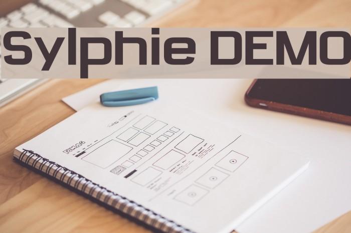 Sylphie DEMO फ़ॉन्ट examples