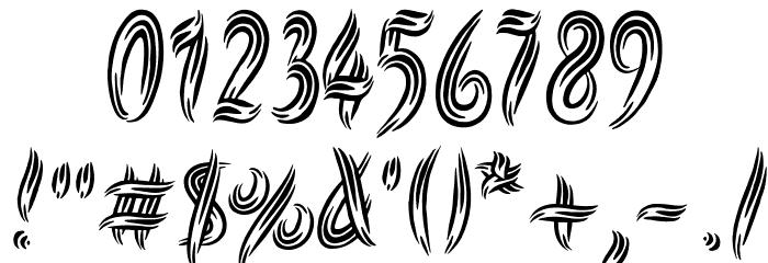 Symbiopsy フォント その他の文字