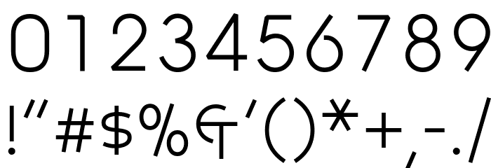Symbolic Scient フォント その他の文字