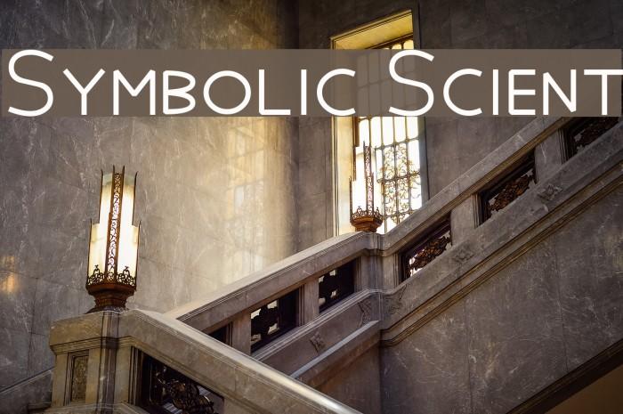 Symbolic Scient Шрифта examples