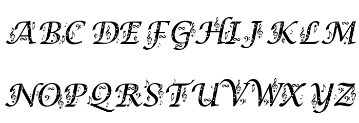 Symphony in ABC Font UPPERCASE