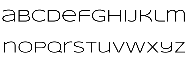 Syncopate-Regular Font LOWERCASE