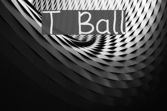 T Ball Font examples