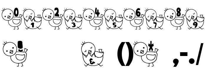 T-piyo Font Fonte OUTROS PERSONAGENS