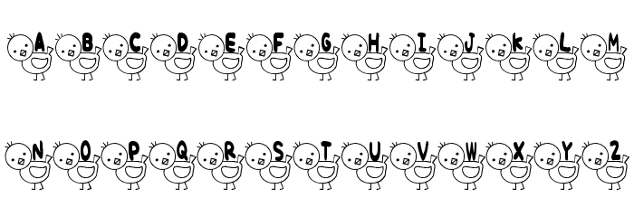 T-piyo Font Font Litere mari