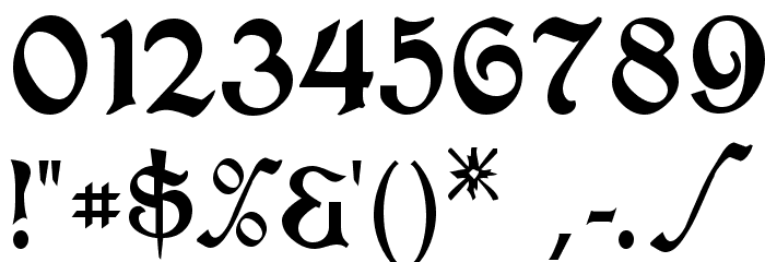 T4C Beaulieux Schriftart Anderer Schreiben