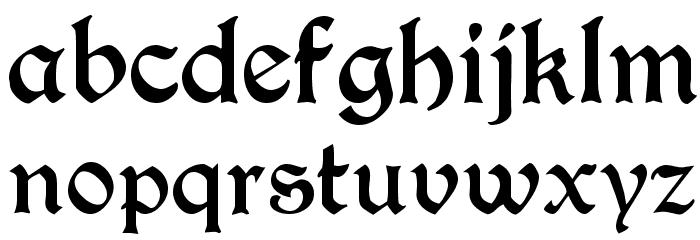 T4C Beaulieux Schriftart Kleinbuchstaben